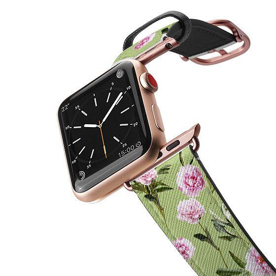 Apple Watch 38mm Bands - Peonies in Her Dreams - Light Green