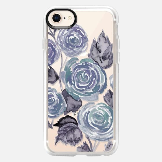 Heathered Gray Floral - Snap Case