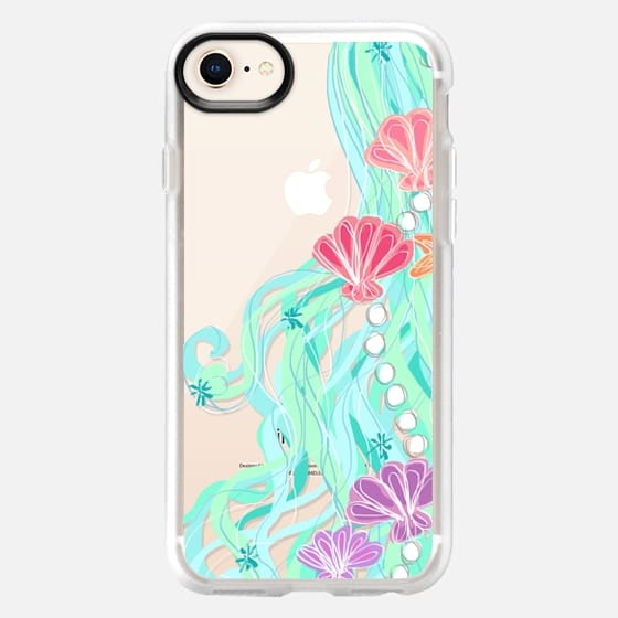 Mermaid Hair Aqua Sea - Snap Case