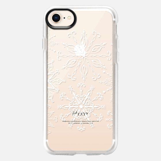 Dainty Snowflakes (transparent) - Snap Case