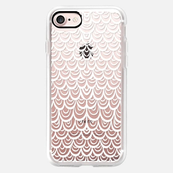 Mermaid Scales White -