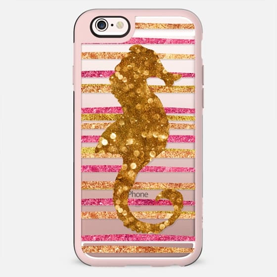 Glamour Seahorse Salsa (transparent) Metaluxe - New Standard Case