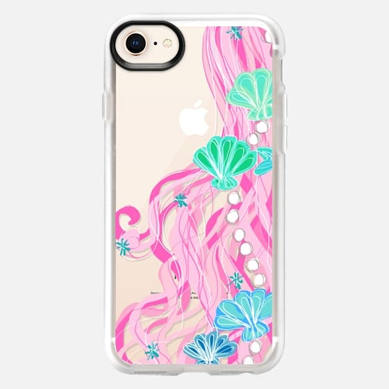Mermaid Hair Bubbly Pink - Snap Case