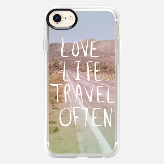 Love Life Travel Often (on the road) - Snap Case