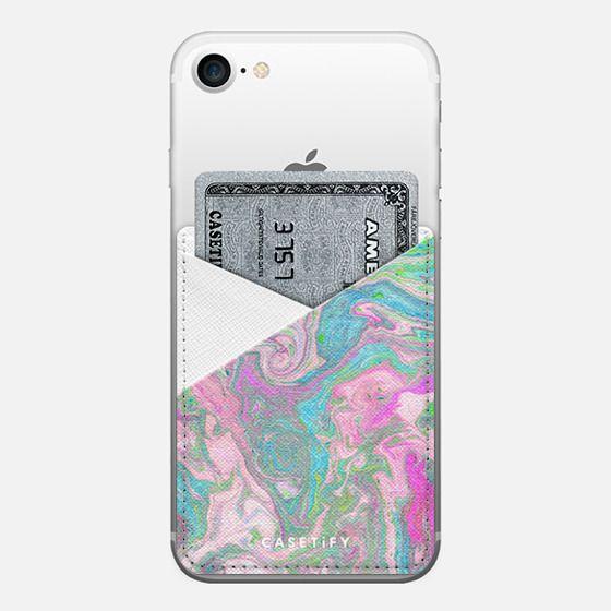 Unicorn Galaxy - Saffiano Leather Phone Wallet