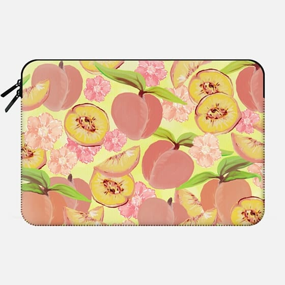 Peaches on Yellow -