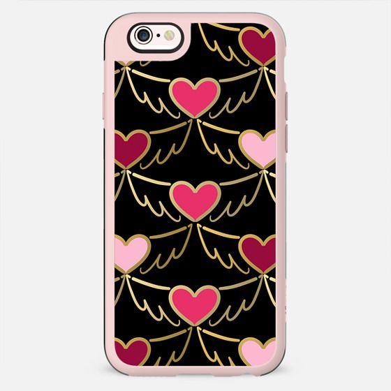 Golden Wings of Love Pattern (black)