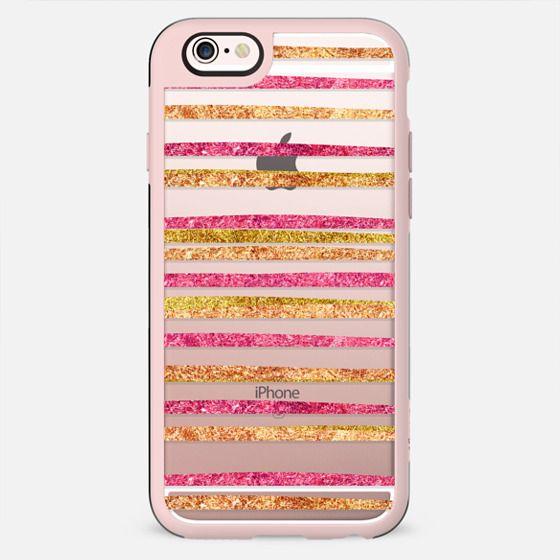 Glamour Stripes Salsa (transparent) - New Standard Case