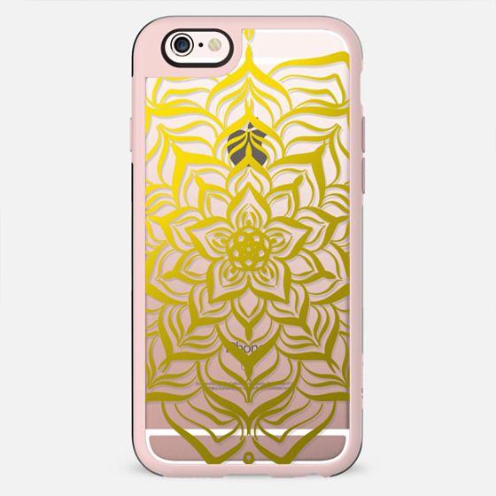 Golden Lotus Mandala (transparent) - New Standard Case