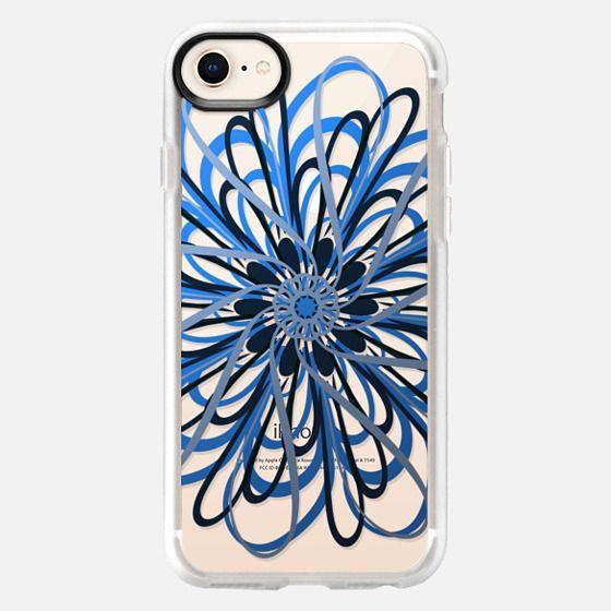Floral Blue Swirl (transparent) - Snap Case