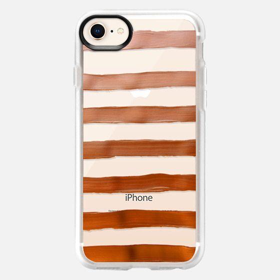 Copper Stripes (transparent) - Snap Case
