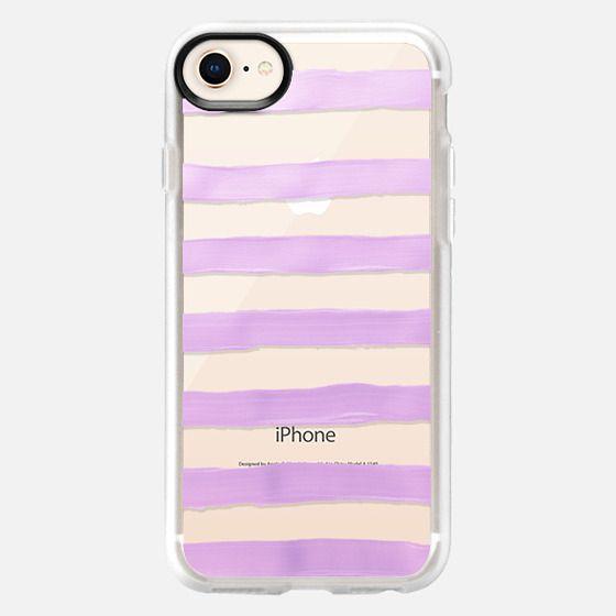 Pastel Lavender Stripes (transparent) - Snap Case