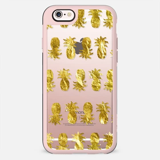 Golden Pineapple Stripes (transparent) - New Standard Case