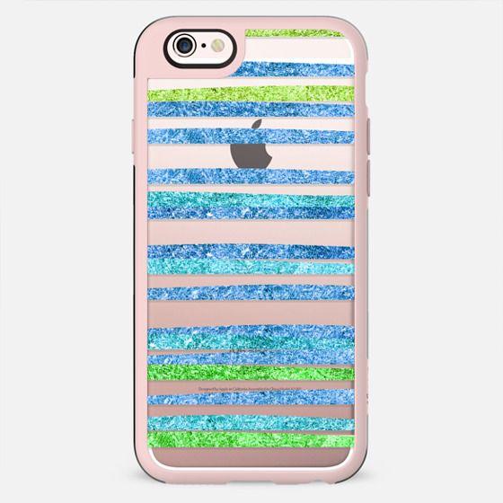 Glamour Stripes Ocean (transparent) - New Standard Case
