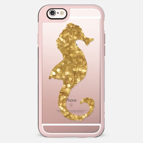 Glamour Seahorse Goldie (transparent) - New Standard Case