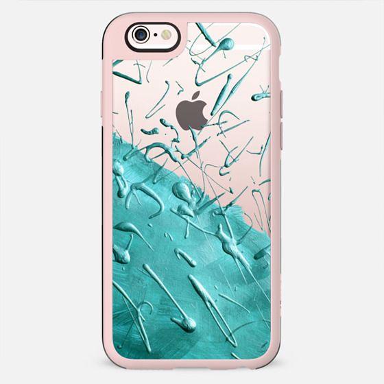 Turquoise Rain (Transparent) - New Standard Case