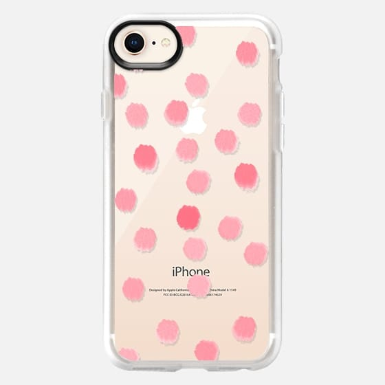 Rosie Dots - Transparent/Clear Background - Snap Case
