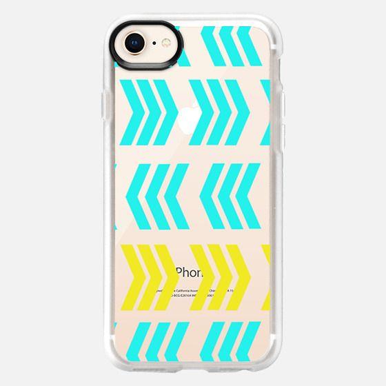 Sunshine Pop and Aqua Zig Zag - Transparent/clear - Snap Case