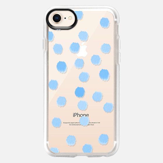 Sky Blue Dots - Transparent/Clear Background - Snap Case