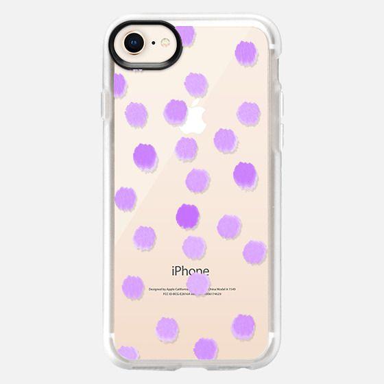 Lola Lavender Dots - Transparent/Clear background - Snap Case
