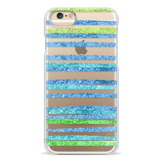 iPhone 6s Cases - Glamour Stripes Ocean (transparent)