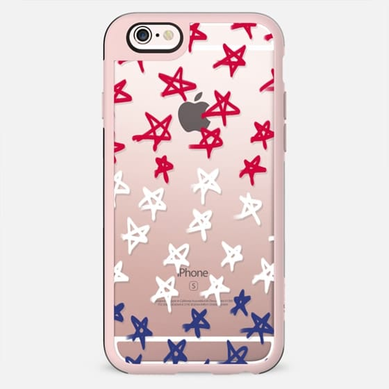 Red, White & Blue Stars (transparent) - New Standard Case