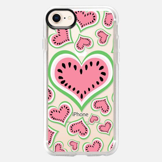 Watermelon Love...Transparent/Clear Background - Snap Case