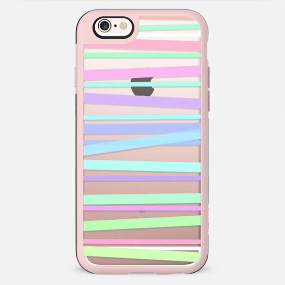 Pastel Rainbow Stripes - Transparent/Clear Background - New Standard Pastel Case