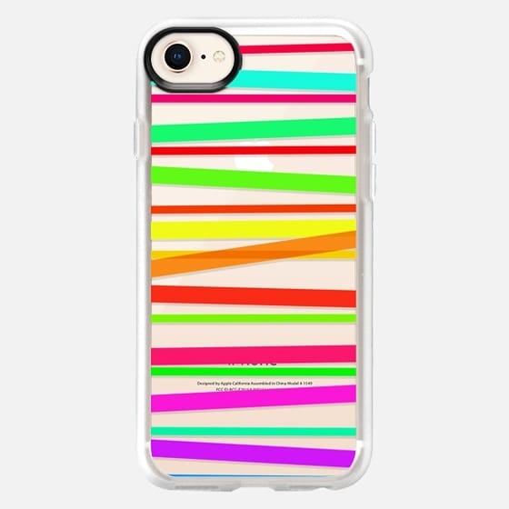 Watercolor Rainbow Stripes - Transparent/Clear style - Snap Case