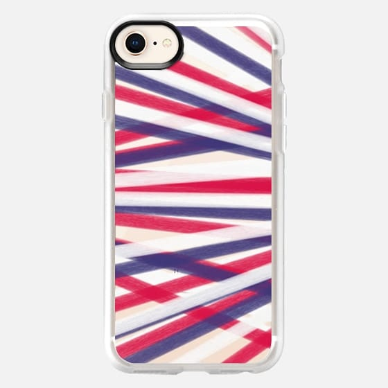 Red, White, Blue Streamers - Transparent/Clear Background - Snap Case