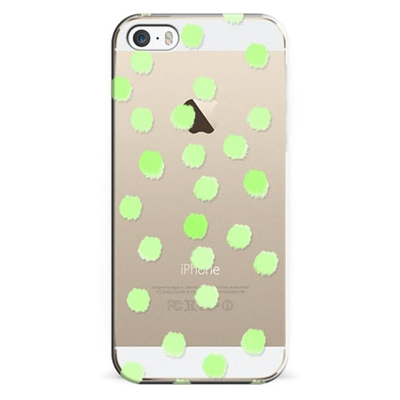 iPhone 5s Cases - Greenie Dots - Transparent/Clear Background