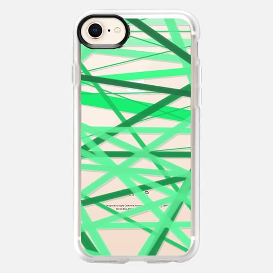 Stripey Green Lines - Snap Case