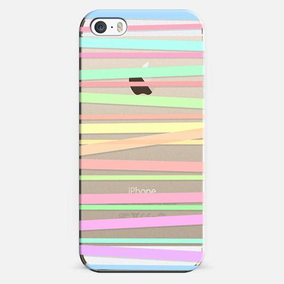 Pastel Rainbow Stripes II - Transparent/Clear background -