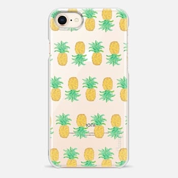 iPhone 8 Case Pineapple Stripes - Transparent/Clear Background
