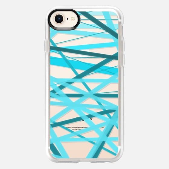 Ocean Jumble Lines - Transparent/Clear Background - Snap Case