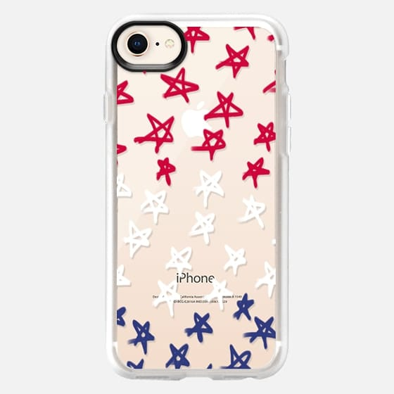Red, White & Blue Stars - Transparent/Clear Background - Snap Case