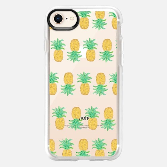 Pineapple Stripes - Transparent/Clear Background - Snap Case
