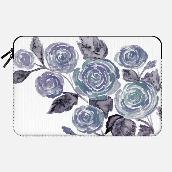 Heathered Gray Floral - Macbook Sleeve