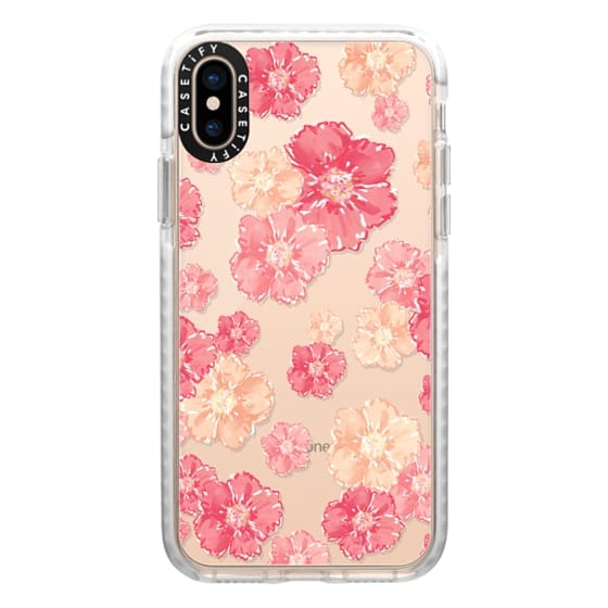 iPhone XS Cases - Blossoms (transparent)