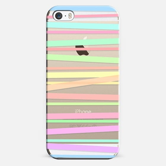 Pastel Rainbow Stripes II - Transparent/Clear background -