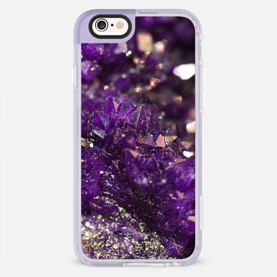 Geode Abstract Amethyst - New Standard Pastel Case