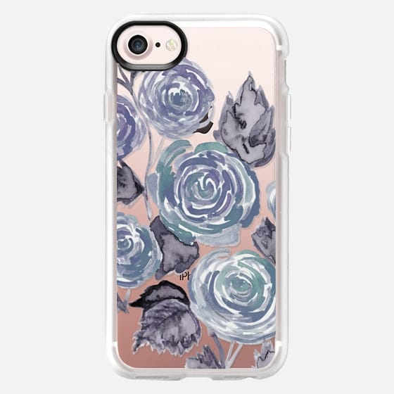 Heathered Gray Floral - Classic Grip Case