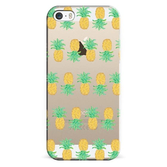 iPhone 6s Cases - Pineapple Stripes - Transparent/Clear Background