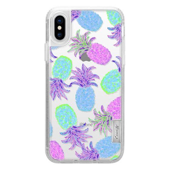 detailed look 72129 0f2c9 Classic Grip iPhone X Case - Pineapple Pandemonium Lavender Blue -  Transparent/Clear Background