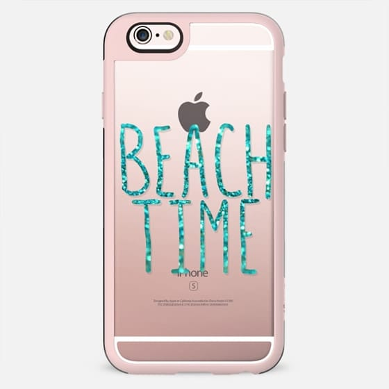 Beach Time Aqua (transparent) - New Standard Case