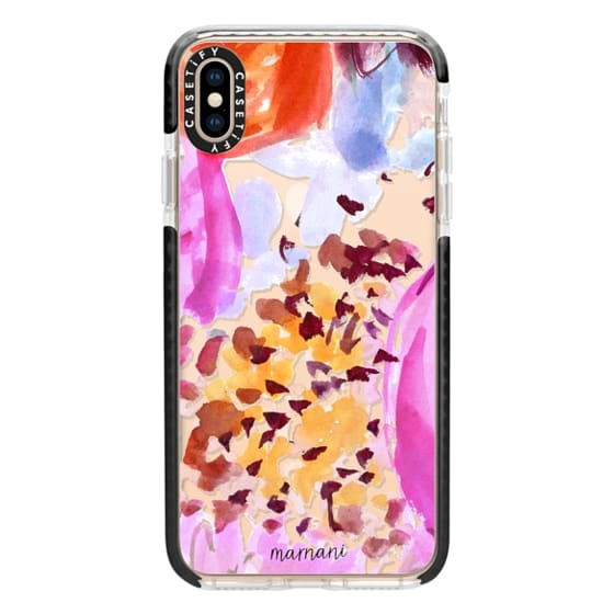 iPhone XS Max Cases - Transparent- Clearly Floral Fuchsia- Marnani Design