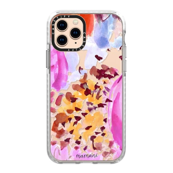iPhone 11 Pro Cases - Transparent- Clearly Floral Fuchsia- Marnani Design