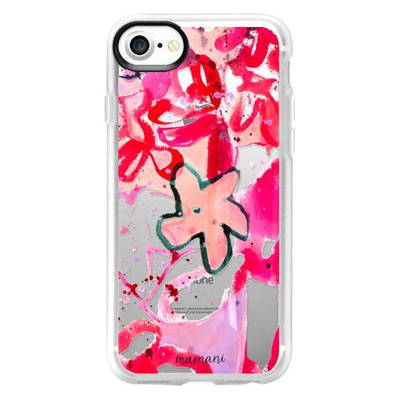 iPhone 7 Cases - Transparent: Fuchsia Floral: Marnani Design Studio