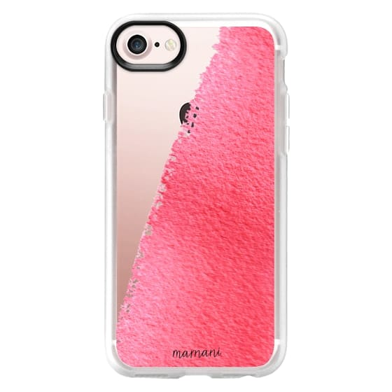 iPhone 7 Cases - Transparent: Watercolor Brush: Marnani Design