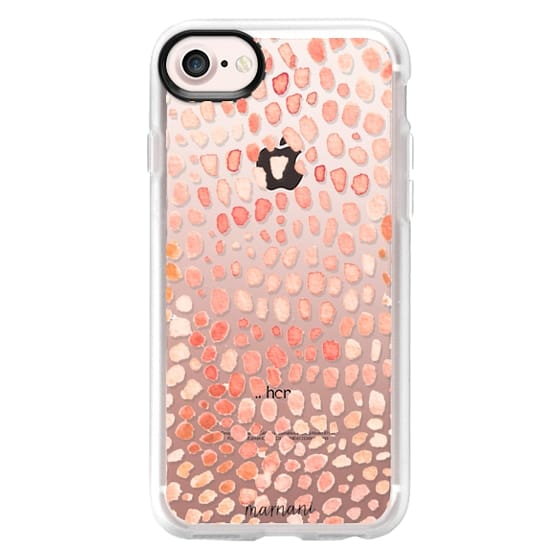 iPhone 7 Cases - Transparent: Peach Dots for Days: Marnani Design Studio